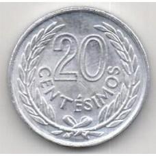 20 сентесимо, Уругвай, 1965