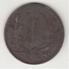 10 сантимов, токен, Алжир, 1916