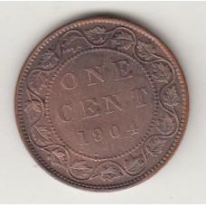 1 цент, Канада, 1904