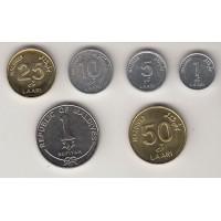 набор монет (1,5,10,25,50 лари, 1 руфия), Мальдивы, 2012