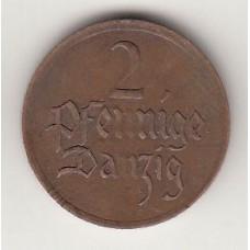 2 пфеннига, Данциг, 1926