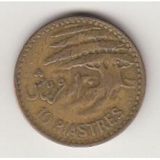10 пиастров, Ливан, 1955