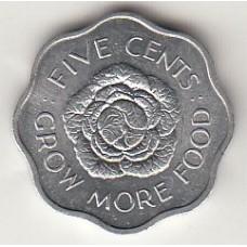 5 центов (ФАО), Сейшелы, 1972
