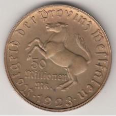 50 миллионов марок (нотгельд), Германия (Вестфалия), 1923