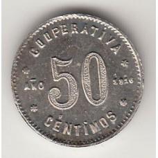 50 сентимо (токен), Испания, 1916