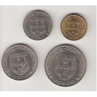 "набор монет ""Хоккей"" (1, 2,5, 5 и 25 эскудо), Португалия, 1982"