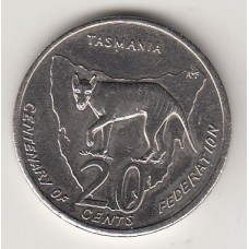 20 центов, Австралия, 2001