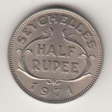1/2 рупии, Сейшелы, 1971