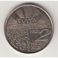 2 песо, Аргентина, 2002