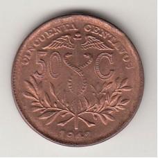 50 сентаво, Боливия, 1942