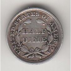 1/2 дайма, США, 1858