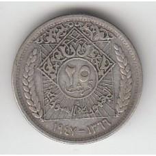 25 пиастров, Сирия, 1947