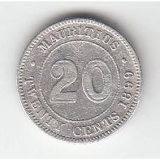20 центов, Маврикий, 1899