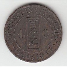 1 цент, Французская Кохинхина, 1884