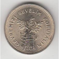 1000 лир, Турция, 1990