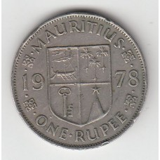 1 рупия, Маврикий, 1978