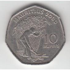 10 рупий, Маврикий, 2000
