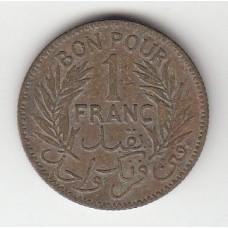 1 франк, Тунис, 1941