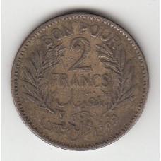2 франка, Тунис, 1945