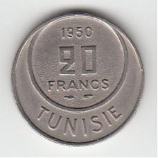 20 франков, Тунис, 1950