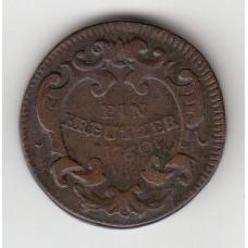 1 крейцер, Австрия, 1760