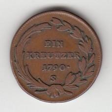 1 крейцер, Австрия, 1790