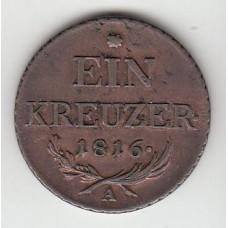 1 крейцер, Австрия, 1816