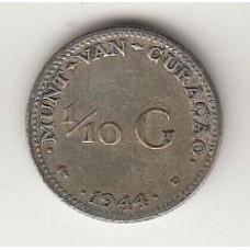 1/10 гульдена, Кюрасао, 1944, numismatico.ru