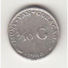 1/10 гульдена, Кюрасао, 1948, numismatico.ru