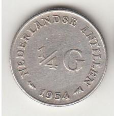 1/4 гульдена, Нидерландские Антильские острова, 1954, numismatico.ru
