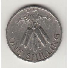 монета 1 шиллинг, Малави, 1964год , стоимость , цена
