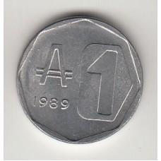 монета 1 аустраль, Аргентина, 1989год, стоимость , цена