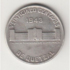1 кетсаль, Гватемала, 1943numismatico.ru