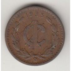 монета 1 сентаво, Мексика, 1935год , стоимость , цена