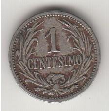 монета 1 сентесимо, Уругвай, 1909год , стоимость , цена