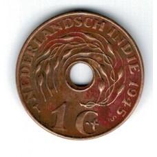 монета 1 цент, Нидерландская Индия, 1945год, стоимость , цена