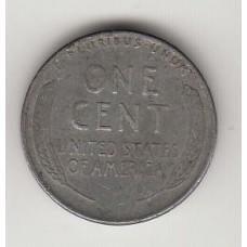 монета 1 цент, США, 1943год, стоимость , цена