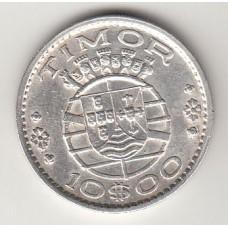 монета 10 эскудо, Тимор, 1964год , стоимость , цена