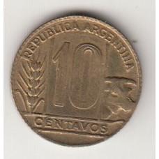 монета 10 сентаво, Аргентина, 1950год, стоимость , цена