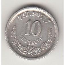 монета 10 сентаво, Мексика, 1894год , стоимость , цена