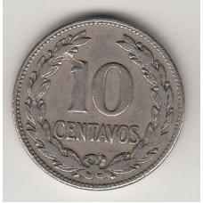 монета 10 сентаво, Сальвадор, 1968год, стоимость , цена