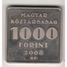 монета 1000 форинтов, Венгрия, 2008 год , стоимость , цена