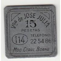 15 песет, кооперативный токен, Испания