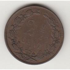 монета 2,5 цента, Нидерланды, 1880год , стоимость , цена
