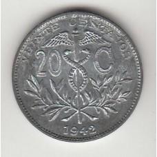 20 сентаво, Боливия, 1942, numismatico.ru