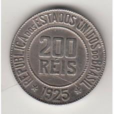 200 рейсов, Бразилия, 1925, numismatico.ru