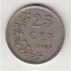 монета 25 сантимов, Люксембург, 1927год , стоимость , цена