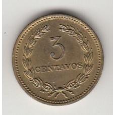 монета 3 сентаво, Сальвадор, 1974год, стоимость , цена