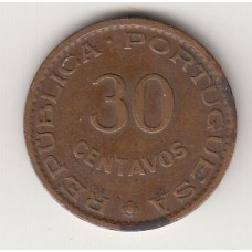 монета 30 сентаво, Тимор, 1958год, стоимость , цена