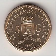 5 гульденов, Нидерландские Антильские острова, 1999, numismatico.ru